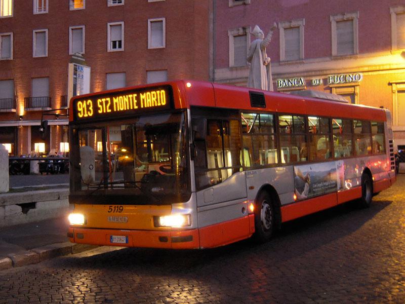 اتوبوس های شبانه رم - حمل و نقل عمومی در ایتالیا