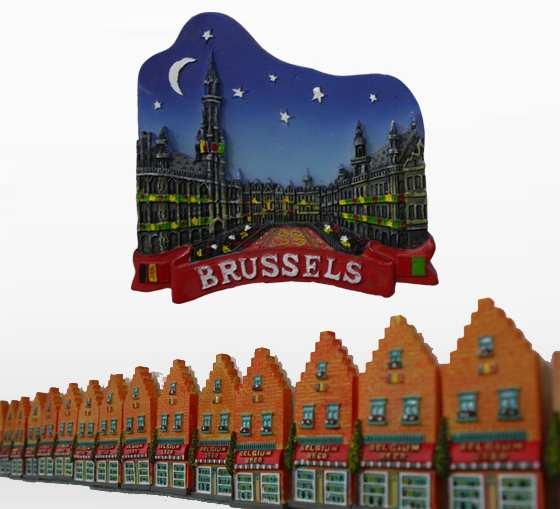 تزئینات آهنربایی یخچالی - سوغات بلژیک