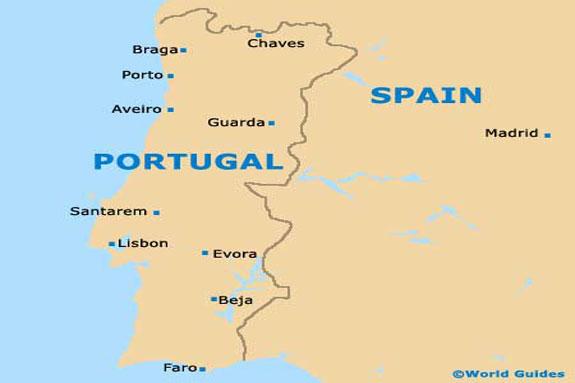 پرتغال نقشه - شهرهای پرتغال