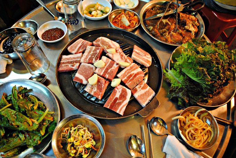 سامگیئوپسال - غذا در کره جنوبی