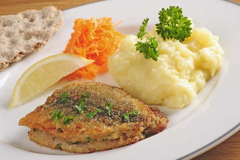 شاه ماهی - غذا در سوئد