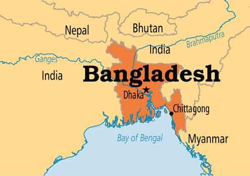 نقشه بنگلادش - شهرهای بنگلادش