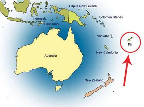 نقشه فیجی - شهرهای فیجی
