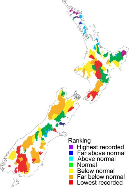 نقشه نیوزلند - شهر های نیوزلند