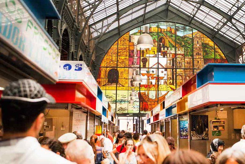 بازار روز سر پوشیده مالاگا - شهرهای اسپانیا