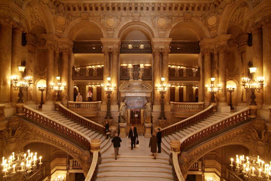 خانه ی اپرای کاخ گارنیه - شهر پاریس فرانسه