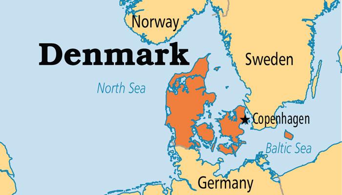 نقشه دانمارک - راهنمای سفر به دانمارک