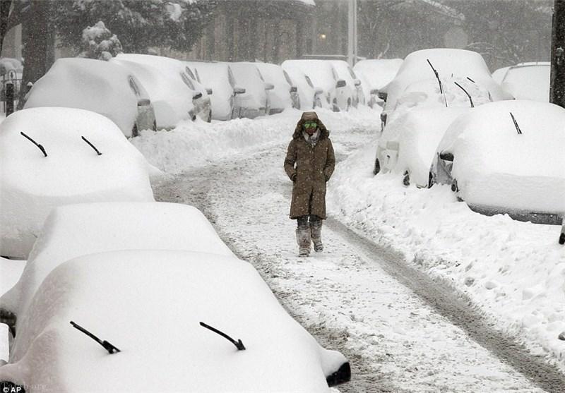 برف در امریکا - تلفات بارش سنگین برف در آمریکا