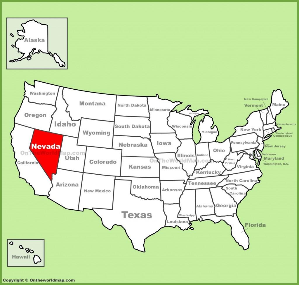 نقشه نوادا  - شهرهای ایالت نوادا امریکا