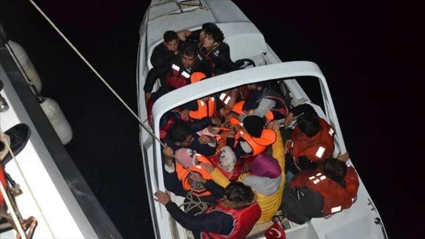گارد ساحلی ترکیه - گارد ساحلی ترکیه 53 مهاجر را نجات داد