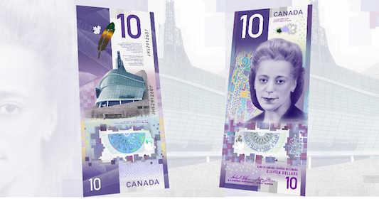 اسکناس کانادایی - اسکناس ۱۰ دلاری کانادا به عنوان بهترین اسکناس دنیا شناخته شد