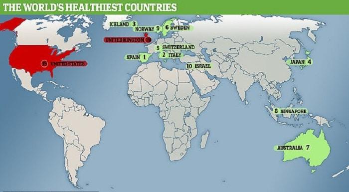 مردم اسپانیا سالم - مردم اسپانیا سالم ترین مردم جهان